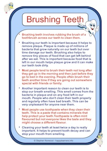 Brushing Teeth Social Story Example
