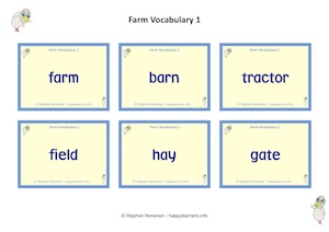 Farm Vocabulary 1