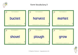 Farm Vocabulary 2