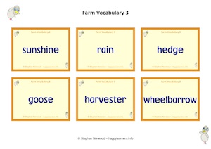 Farm Vocabulary 3