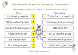 Idioms - Worksheet 2