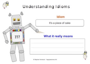 Idioms - Worksheet 4