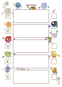 Monster 5 Step Task Board