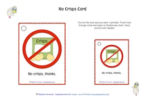 No Crisps Sign