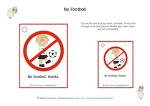 No Football Sign