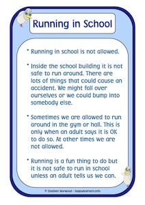 Running in School  Social Story