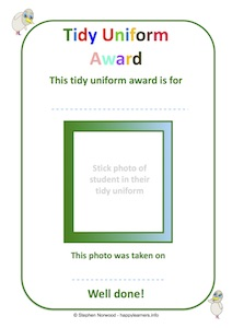 Tidy Uniform Award