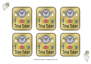 Time Tokens 1 minute