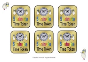 Time tokens 5 minutes