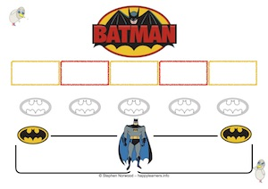 Batman Reward Chart 5 Blanks