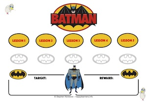 Batman Reward Chart 5 Lessons