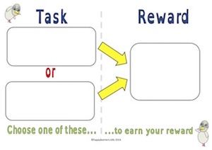 Choose Task Before Reward Board