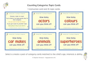 Counting in Categories Cards