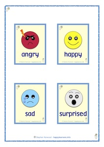 Feeling Cards - Angry, Happy, Sad & Surprised