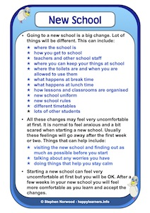 New School Year Social Story Example