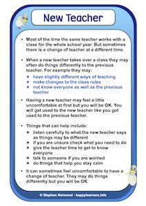 New Teacher Social Story Example