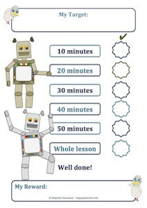 Robot Reward Chart Lesson