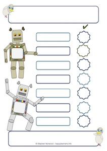 Robot Reward Chart 7 blanks