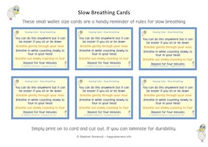 Slow Breathing Cards