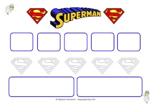 Superman Reward Chart