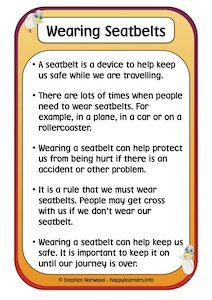 Wearing Seatbelts Social Story